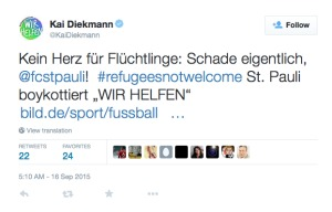 Post von Kai Diekmann auf Twitter am 16.09.2015